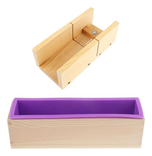 2 unids molde de jabón de silicona caja de madera