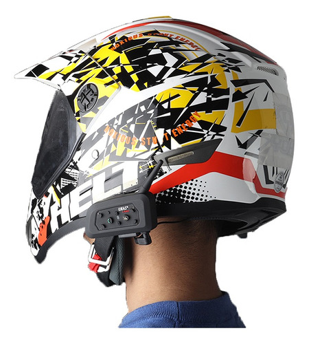 2 unids v6 pro casco de la motocicleta auricular intercom bt