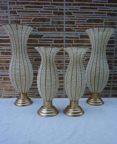 2 vaso de pedraria anfora em perolas luxuosos 45 cm