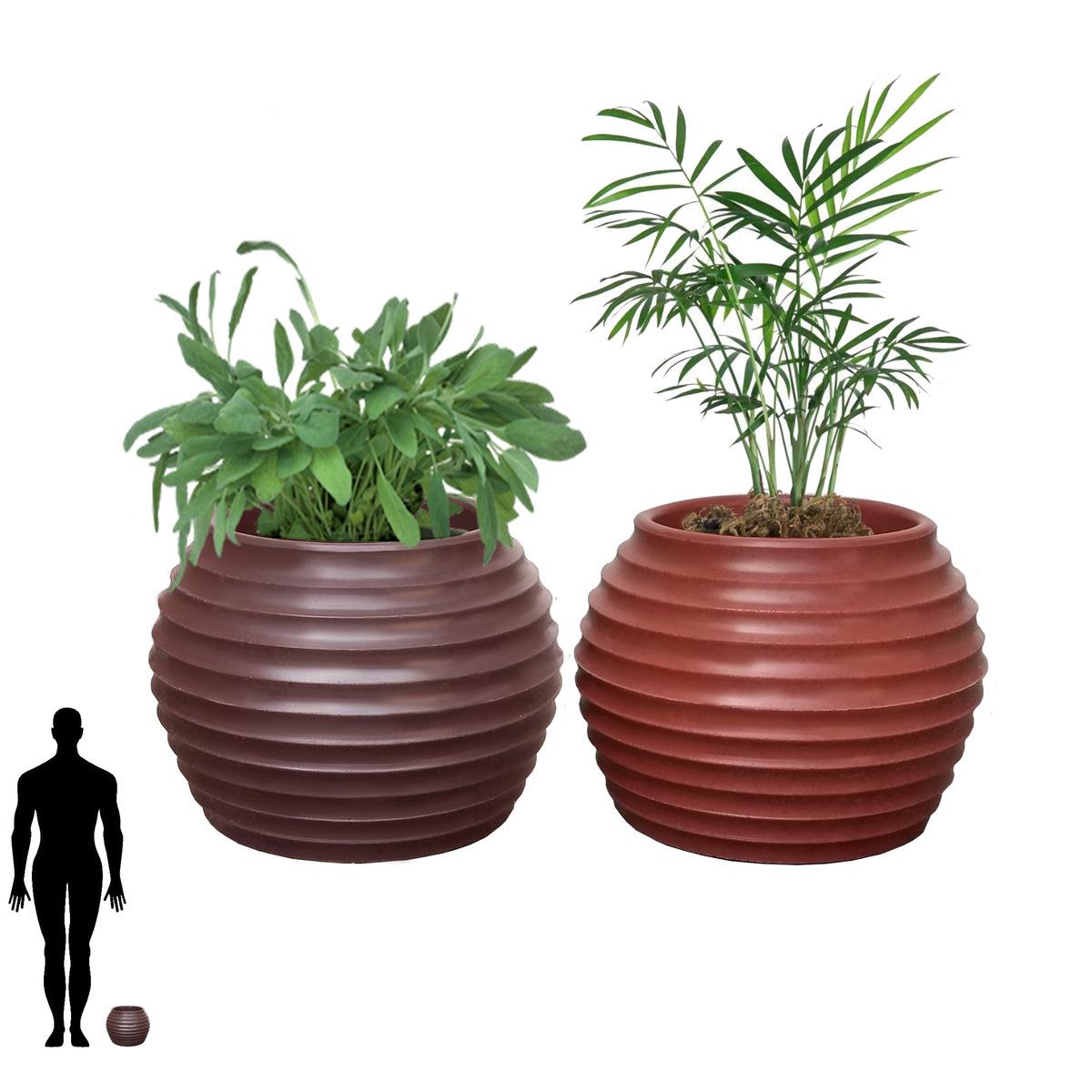 bd23138f0 2 vaso para decoracao jardim paisagismo branca pedra b 15x20. Carregando  zoom.