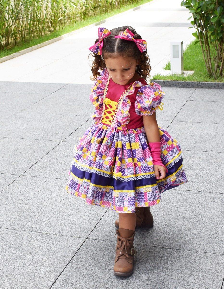 2 Vestidos Caipira Festa Junina Quadrilha Tal Mãe E Filha - R  198 ... 71274d9042d