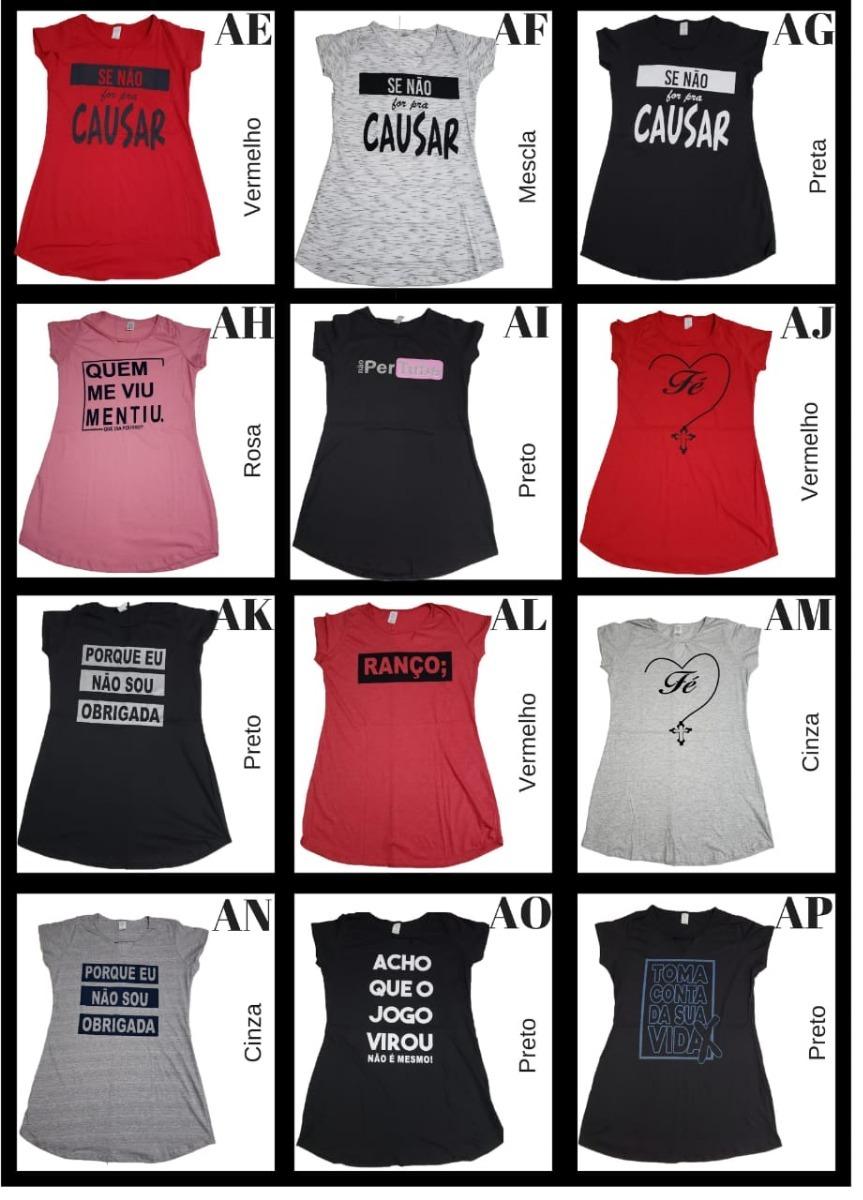 96a8721c9f 2 Vestidos Roupa Feminina Frases Legais Oferta - R$ 62,65 em Mercado ...
