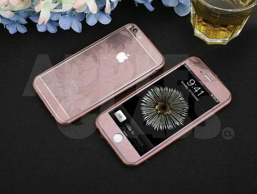 2 vidrios templados 3d con bumper iphone 6 / 6s