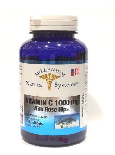 2 vitamina c 1000mg antioxidante x 100 perlas natural system