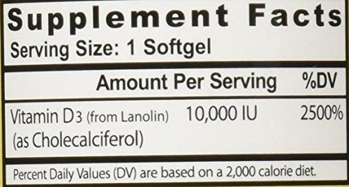 2 vitamina d3 10.000 ui 360 caps softgels healthy origins