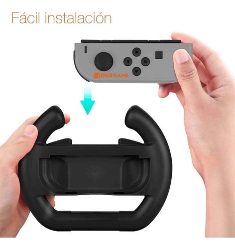 2 volantes nintendo switch control joy-con juego carreras