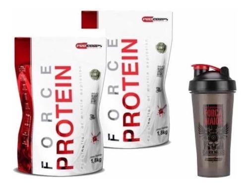 2 whey force protein , 3.6kg + shaker 26gr de proteína