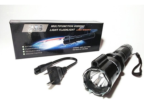 2 x 1 chicharra paralizadora con lampara led apuntador laser