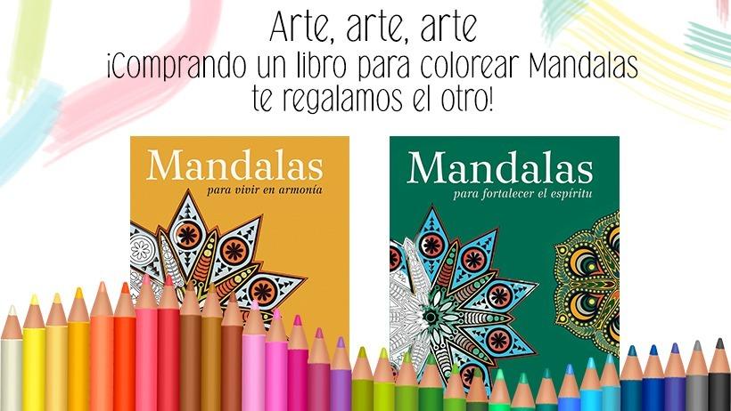 2 X 1 Libro Para Colorear Mandalas 39900 En Mercado Libre