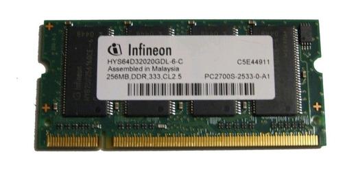 2 x 256 mb pc2700 ddr laptop memoria hys64d32020gdl-6-c