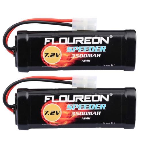 2 x 7.2v 3500mah nimh batería tamiya hembra enchufe para mod