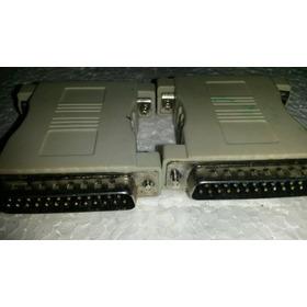 2 X Adaptador Para Conector Db25m X Db25m.
