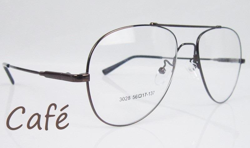 42d6a6ed77b32 2 x armações aviador p  óculos de grau em titânio memory. Carregando zoom.