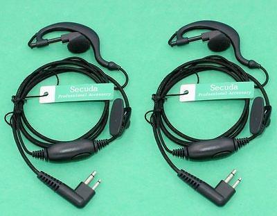 2 x auriculares/auricular para motorola radius radio cp200 c
