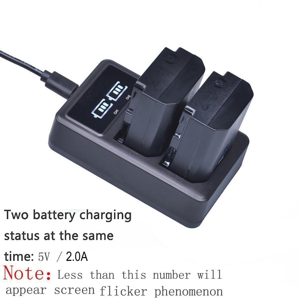 2 X Batera Np Fz100 Cargador Usb Para Sony Bc Qz1 Alfa 9 Battery Charger Cargando Zoom