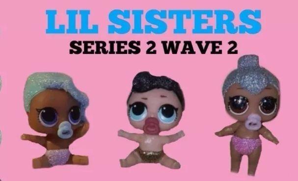 2x Lol Surprise Dolls Series 2 Lil Little Sisters Queen Dolls L O L