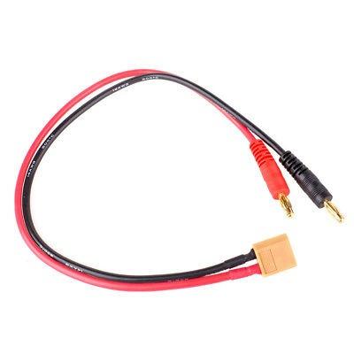 2 x cable rc batería carga cable xt60 macho 4mm 14awg banana