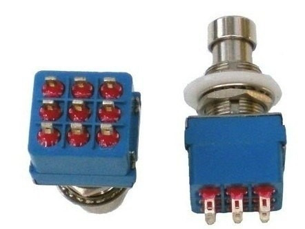 88861b329b 2 X Chaves 3pdt 9 Terminais Azul T.bypass Pedal-footswitch - R  23 ...