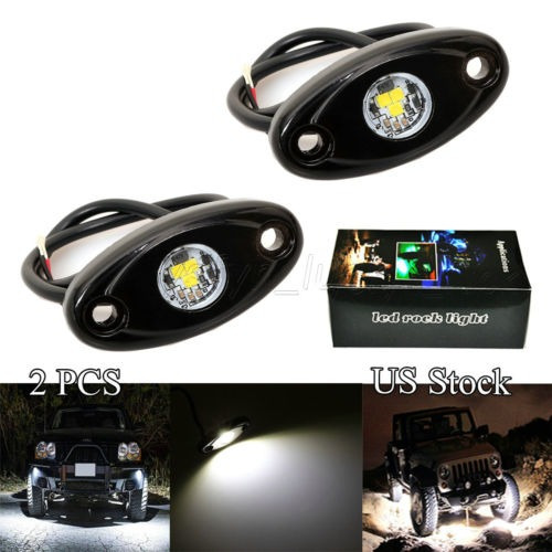 2 x cree chips 3-cree led roca luz para jeep... (white)