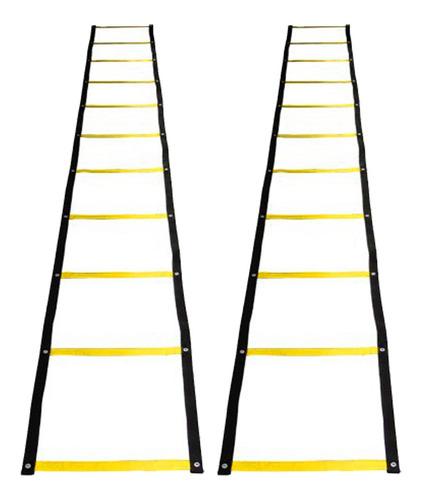2 x escada de agilidade motora coordenação = amarelinha