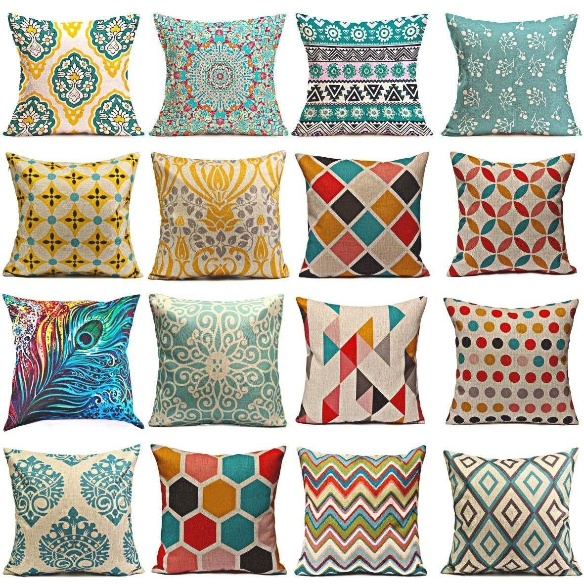 41f0e4cec6b 2 X Funda Cojin Cojines Hoga Casa Decoracion Sofa Cama 45x45 ...