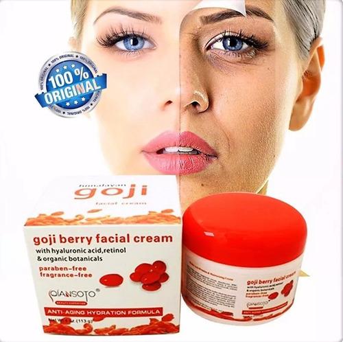 2 x goji crema antiarrugas antiedad ácido hialuronico 4oz