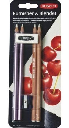 2 x kit de lápis artisticos blender e burnisher derwent