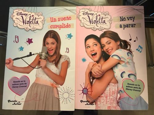 2 x libros de violetta disney