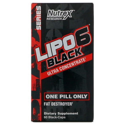 2 x lipo 6 black nutrex termogênico 60 capsulas frete grátis