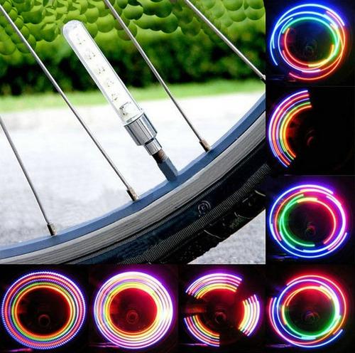 2 x luz led neon para válvula  - bicicleta auto moto potente