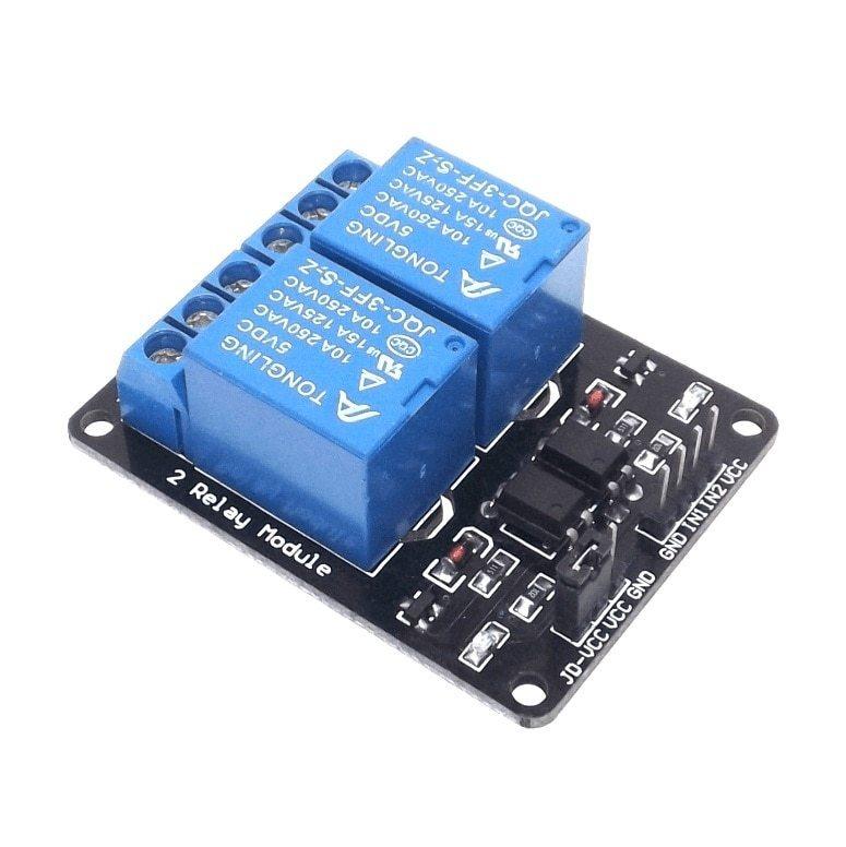 2 X Modulo Relé Duplo 5v Para Arduino Raspberry Arm Pic 8051