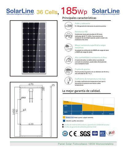 2 x panel solar fotovoltaico 185 watt 185 watts 185wp 185w