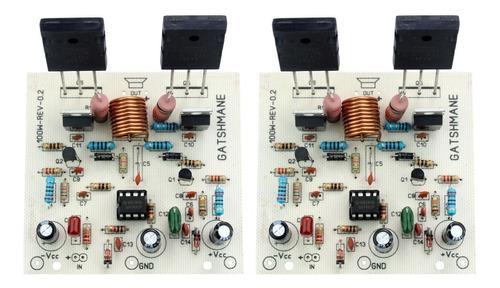 2 x placas para montar amplificador 100w 2sc5200/2sa1943