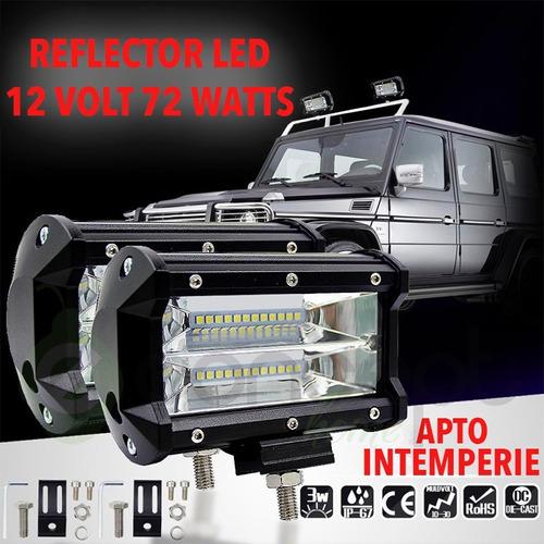 2 x reflectores led 12v 24v 72w 7200lm toyota ford jeep kia