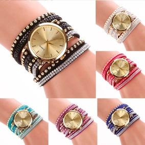 899c4a3233c2 Pulseras   Muñequeras De Cuero Con Tachas - Relojes en Mercado Libre ...