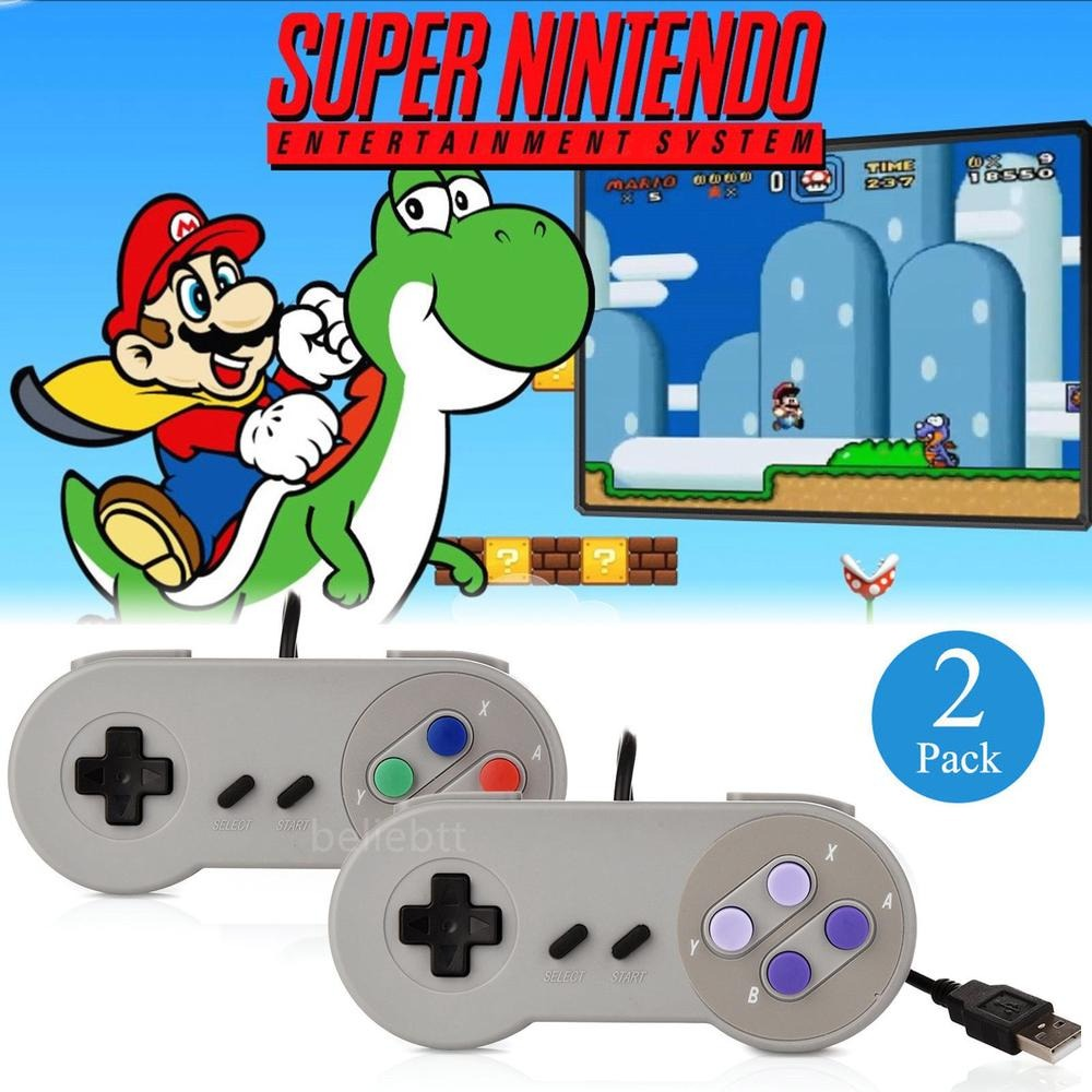 2 X Usb De Innext De Snes Super Nintendo Juegos Retro C 1760