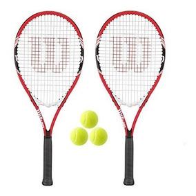 WILSON Federer 3 Pelotas de Tenis 2 Raquetas de Tenis para Adultos