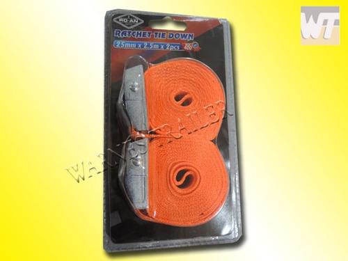 2 zunchos de ajuste cinta amarre suncho 2,5 mts x 25 mm