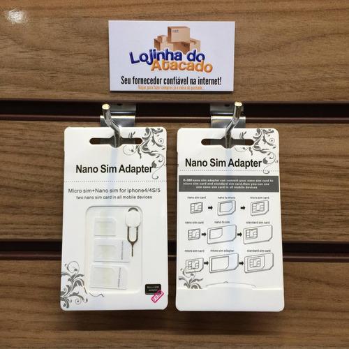 20 adaptador de chip para celular - mini micro nano sim