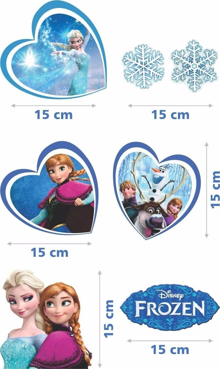 20 Adesivos Frozen Recortado Olaf Flocos Neve Alta Resolucao R