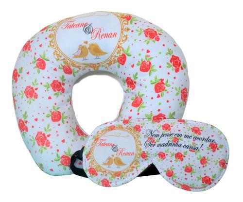20 almofadas personalizadas + máscara dormir