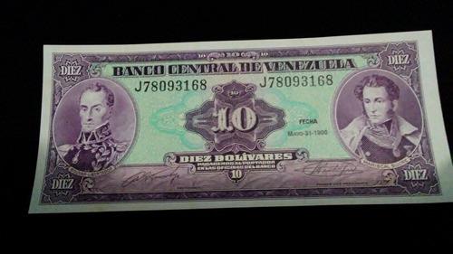 20 billetes 10 bolivares 1990 k y j. unc consecutivos.