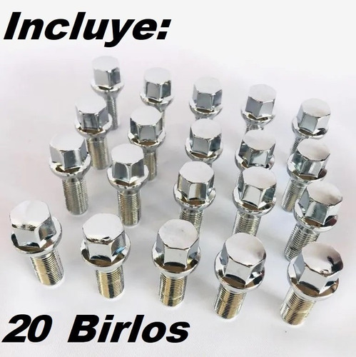 20 birlos 12x1.5 cromados vw jetta, golf, polo ( original )