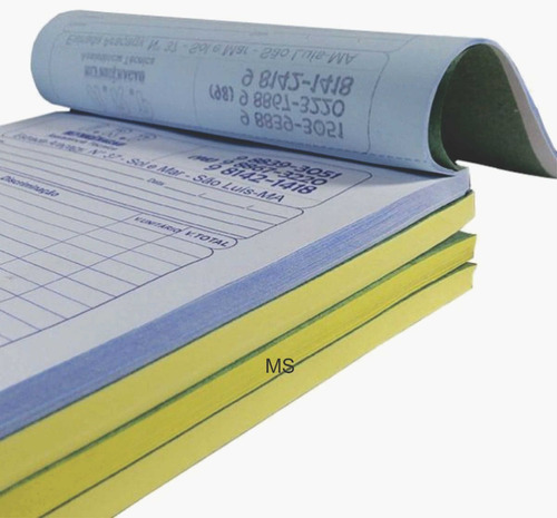 20 blocos/talão/pedido 15x20 papel copiativo numerado 2 vias