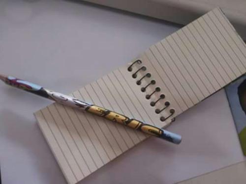 20 bloquinho de anotações + lápis personalizados