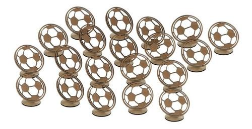20 bolas de futebol decoração mesa festa lembrancinha mdf