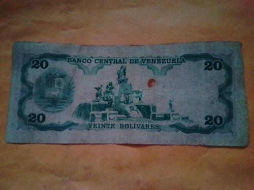 20 bolivares del año 1992 serial z 33026630