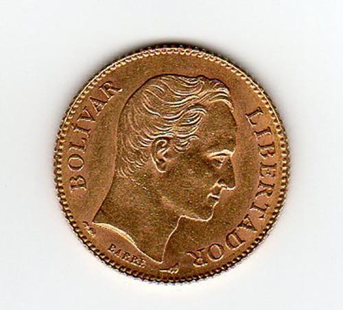 20 bolívares oro año 1912