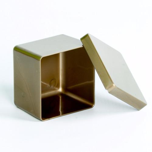 20 caixa caixinha dourada 6x6 acrílico lembrancinha