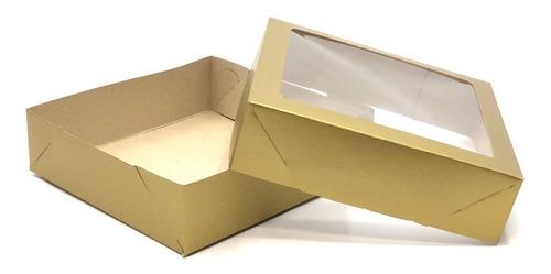 20 caixas 15x15x4cm: t f- visor -bombom/brigadeiro/trufas
